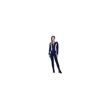 Pants Deportivo TSX Azul Marino y Azul Fuerte con Rosa Para Dama - Envío Gratuito