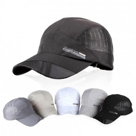 Moda para hombre verano deporte al aire libre del sombrero de béisbol Correr Visor Cap ajustable Gris oscuro - Envío Gratuito