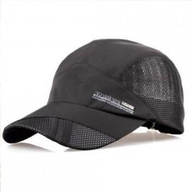 Moda para hombre verano deporte al aire libre del sombrero de béisbol Correr Visor Cap ajustable Armada