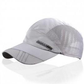 Moda para hombre verano deporte al aire libre del sombrero de béisbol Correr Visor Cap ajustable Gris claro