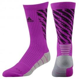 Calcetas para Basketball Adidas Traxion Shockwave Crew para Callero - Rosa + Negro