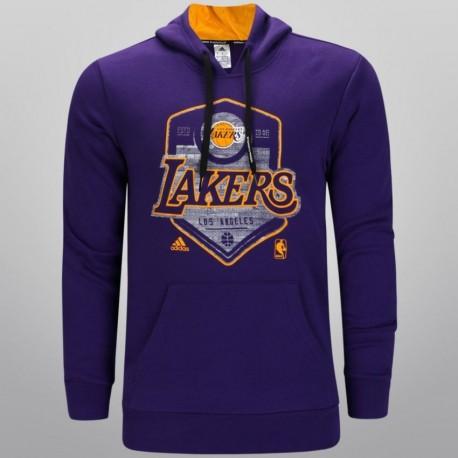 Sudadera de Basketball Adidas NBA GFX Team LA Lakers para Caballero - Púrpura - Envío Gratuito