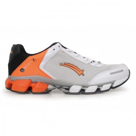 Tenis deportivo Karosso 6302- Blanco con Naranja - Envío Gratuito