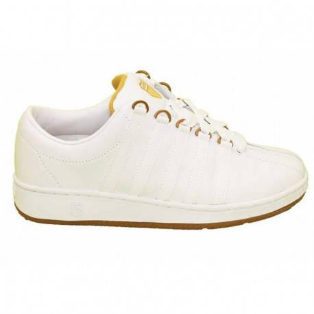 Tenis Kswis Men Classic Luxury White/Gold - Envío Gratuito