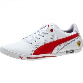Tenis Puma Ferrari Selezione - Blanco con Rojo