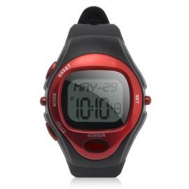 Reloj Deportivo Con Medidor De Pulso Y De Calorias-Rojo