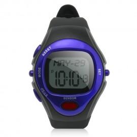 Reloj Deportivo Con Medidor De Pulso Y De Calorias-Azul
