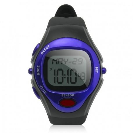 Reloj Deportivo Con Medidor De Pulso Y De Calorias-Azul - Envío Gratuito
