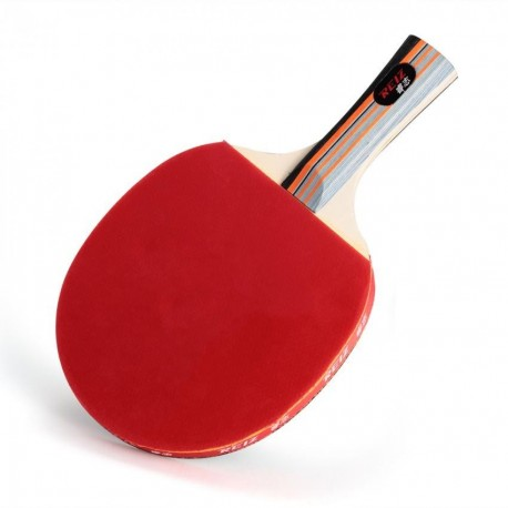 REIZ Raqueta para Ping Pong Tenis + Bolsa Cover Deporte Entrenamiento Negro Rojo - Envío Gratuito