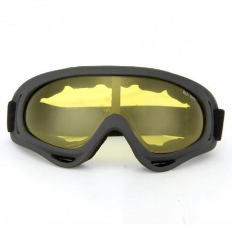 Gafas Protección Mascara para Moto Motocross Esqui Deporte Ajustable Amarillo - Envío Gratuito