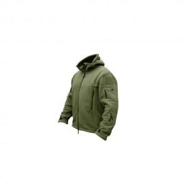 Softshell Jacket Polartec Thermal Al Aire Libre Escudo Deporte Senderismo Polar Con Capucha Verde