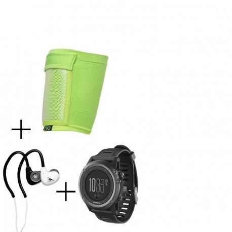 Reloj Multideporte Garmin Fenix 3-Gris + audifonos Warrior y porta celular NXE - Envío Gratuito