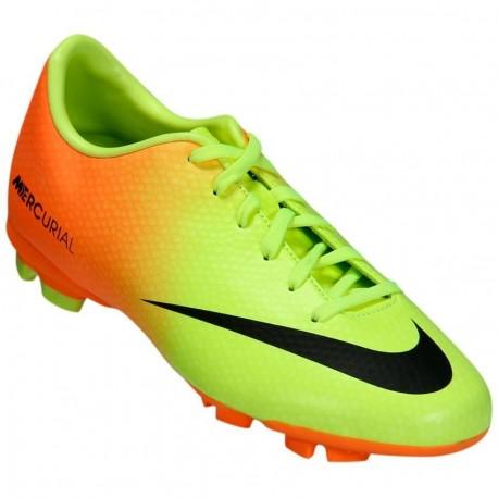 Tachones para Fútbol Nike Mercurial Victory 4 FG Jr. Citrus para niño - Amarillo + Naranja - Envío Gratuito