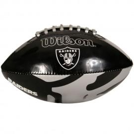 Balón de Americano Juvenil NFL Wilson WTF1534 RAID-Negro con Gris - Envío Gratuito