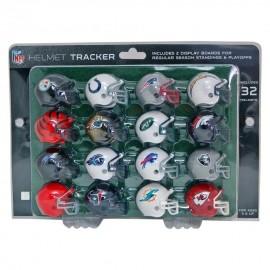 Set De 32 Cascos Nfl Mini Helmet Con 2 Display Afc Y Nfc - Envío Gratuito