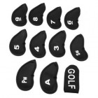 11Pcs Hierro del golf club Set Covers Caso Putter Head neopreno Conjuntos bolsillos Deporte - Envío Gratuito