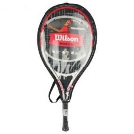Raqueta de Tenis Wilson Federer WRT3247003-Blanco con Rojo - Envío Gratuito