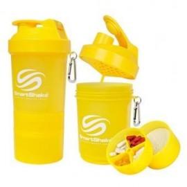 Shaker SMARTSHAKE 3 compartimentos 600 ml color Neón Amarillo. - Envío Gratuito