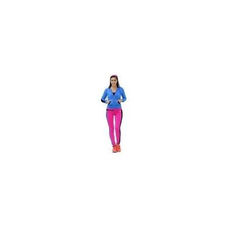 Pants Deportivo TSX Rosa con Azul y Negro Para Dama - Envío Gratuito