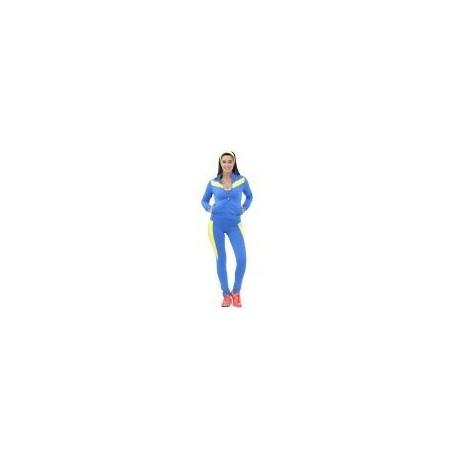 Pants Deportivo TSX Azul con Amarillo Para Dama - Envío Gratuito