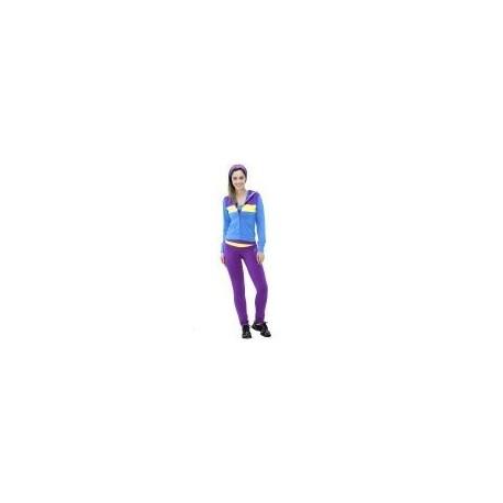 Pants Deportivo TSX Morado con Azul y Amarillo para Dama - Envío Gratuito