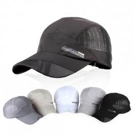Moda para hombre verano deporte al aire libre del sombrero de béisbol Correr Visor Cap ajustable Gris oscuro