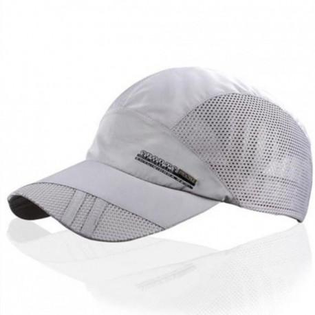 Moda para hombre verano deporte al aire libre del sombrero de béisbol Correr Visor Cap ajustable Gris claro - Envío Gratuito