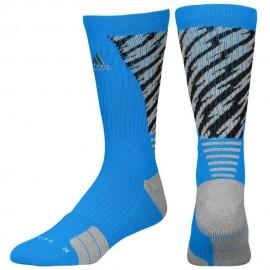 Calcetas para Basketball Adidas Traxion Shockwave Crew para Caballero - Azul + Negro