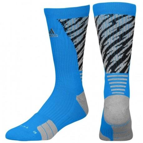 Calcetas para Basketball Adidas Traxion Shockwave Crew para Caballero - Azul + Negro - Envío Gratuito