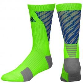 Calcetas para Basketball Adidas Traxion Shockwave Crew para Caballero - Verde + Azul