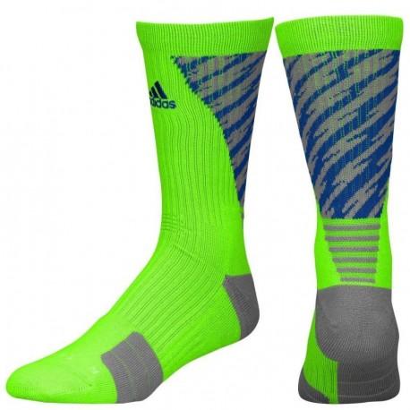 Calcetas para Basketball Adidas Traxion Shockwave Crew para Caballero - Verde + Azul - Envío Gratuito