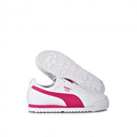Tenis Puma Roma Basic - Blanco con Rosa