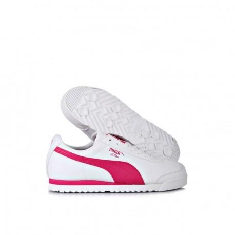 Tenis Puma Roma Basic - Blanco con Rosa - Envío Gratuito