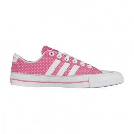 Tenis Adidas VL Neo 3 Stripes - Rosa con Blanco - Envío Gratuito