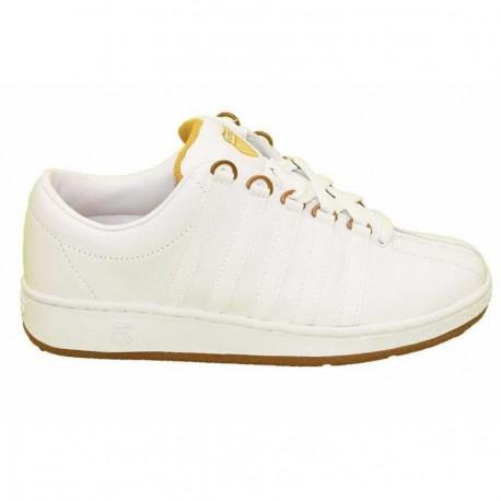 Tenis Kswis Men Classic Luxury White/Gold - Envío Gratuito