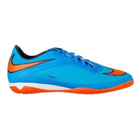 Tenis Nike Hypervenom Phelon IC - Azul con Naranja - Envío Gratuito