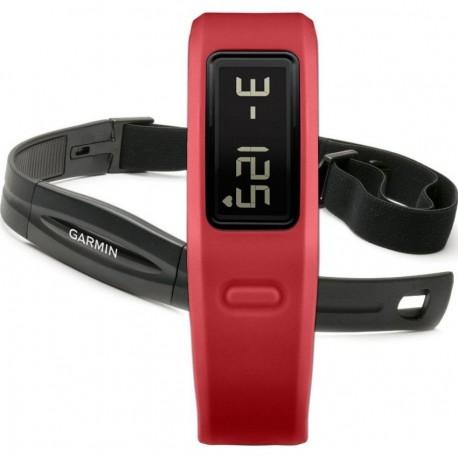 Medidor de Actividad VivoFit con Banda de Ritmo Cardíaco Garmin-Rojo - Envío Gratuito