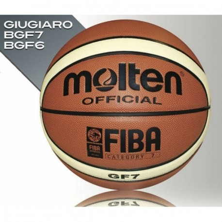 Balon Basquetbol Molten BGF6 Sintetica -Ladrillo con Crema - Envío Gratuito
