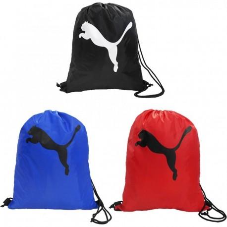 Mochila Puma Gym Sack -Negro-Rojo-Azul - Envío Gratuito