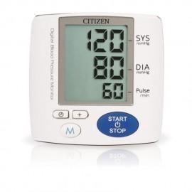 Medidor de Presión Arterial Citizen CH617 para muñeca con Termometro de regalo-Blanco