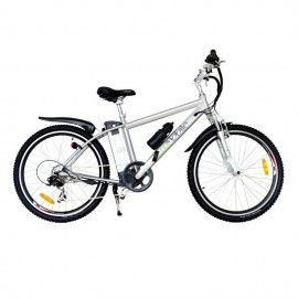Bicicleta Electrica EcoMobile Power Plus 36V -Plata - Envío Gratuito