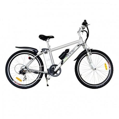 Bicicleta Electrica EcoMobile Power Plus 36V -Plata - Envío Gratuito