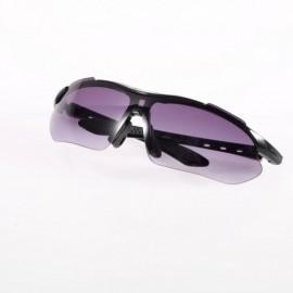Deporte al aire libre Ciclismo de bicicletas Bike Riding Gafas de sol Gafas anteojos UV400 Lente Negro