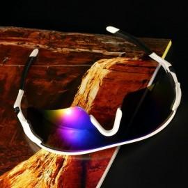 Deporte Ciclismo de bicicletas Bike Riding UV400 de protección Gafas de sol Gafas Goggle Marco azul lentes reflectantes