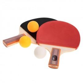 REIZ Par Raqueta para Ping Pong Tenis Mesa + 3 Pelotas Deporte Entrenamiento