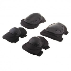 Seguridad 4 Deportes Rodilla Codo protector protector del cojín Gear Nylon Negro