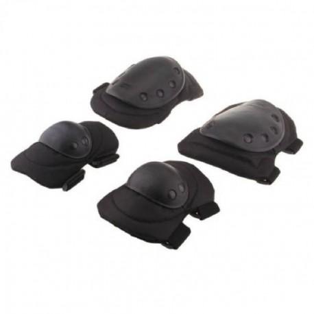 Seguridad 4 Deportes Rodilla Codo protector protector del cojín Gear Nylon Negro - Envío Gratuito