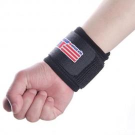 Muñequera Elástica Deporte Protección Espuma Nylon Velcro