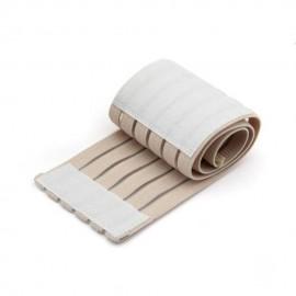 Muñequera Elástica Algodón Goma Sintética Fibra Deporte Protección Velcro Beige
