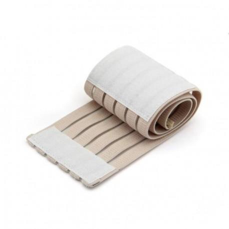 Muñequera Elástica Algodón Goma Sintética Fibra Deporte Protección Velcro Beige - Envío Gratuito